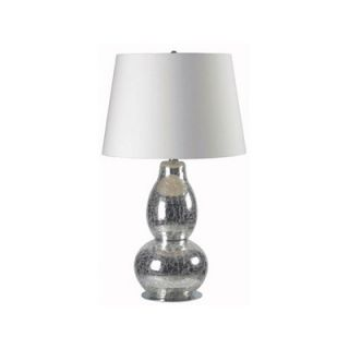 Kenroy Home Mercurio One Light Table Lamp in Chrome Crackled Glass