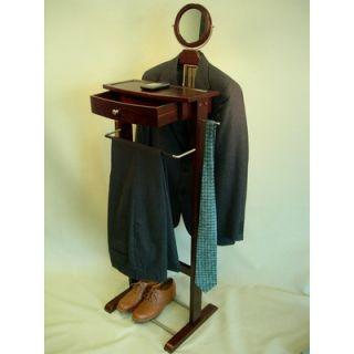 Proman Kingston III Wardrobe Valet with Mirror in Dark Walnut