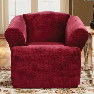 Sure Fit Stretch Royal Diamond T Cushion Chair Slipcover