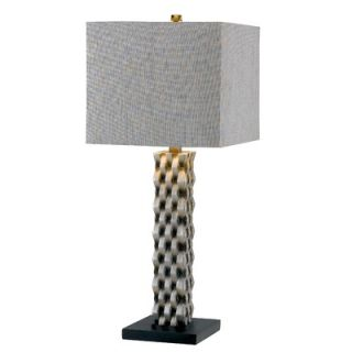 Kenroy Home Element One Light Table Lamp in Aged Silver   21045AGS