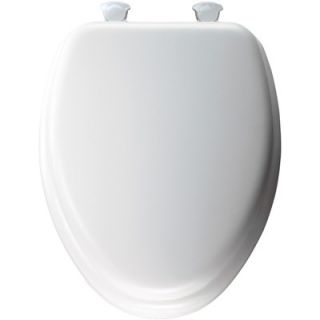 Bemis Elongated Soft Toilet Seat with Easy Clean and Change Hinges