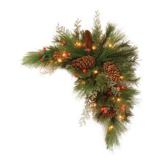 National Tree Co. White Pine Pre Lit 30 Corner Swag   DC13 116 30CB