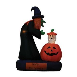 BZB Goods 6 Halloween Inflatable Animated Witch