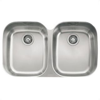FrankeUSA Regatta Undermount Stainless Steel Double Bowl Kitchen Sink