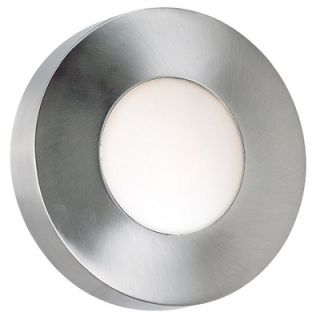 Kenroy Home Burst Round Outdoor Wall Sconce in Polished Aluminum