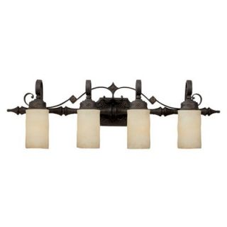 River Crest Four Light Bath Vanity in Rustic Iron   1904RI 125