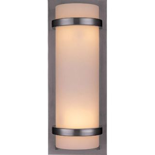 Minka Lavery Backed Wall Sconce in Brushed Nickel