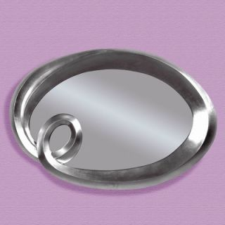 Bassett Mirror Silver Finish Oval Wall Mirror