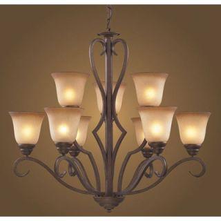 Elk Lighting Lawrenceville 9 Light Chandelier   9329/6+3