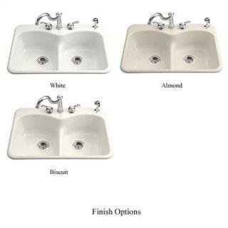 Kohler Langlade Smart Divide Self Rimming Kitchen Sink with Three Hole