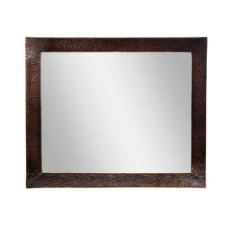 The Copper Factory Hammered Copper Framed Rectangular Mirror