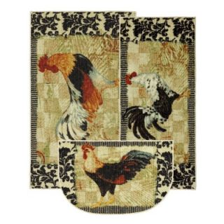 Mohawk Select New Wave Kitchen Bergerac Rooster Novelty Rug (Set of 3