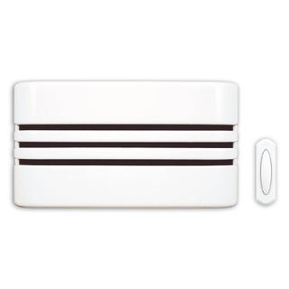 Heath Zenith Wireless Battery Operated Door Chime Kit with White
