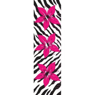 Secretly Designed Flower with Zebra Print Wall Decal Growth Chart