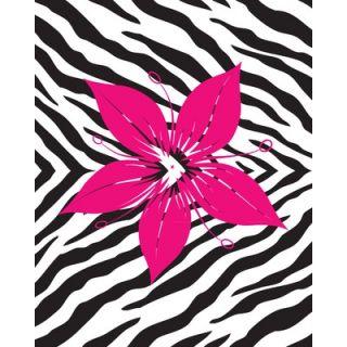 Secretly Designed Flower with Zebra Print Wall Decal
