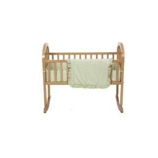 American Baby Company Heavenly Soft Minky Dot Cradle Bumper