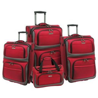 Travelers Choice Lightweight 4 Piece Luggage Set