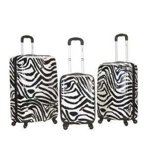 Rockland Safari 3 Piece Upright Set   F195 ZEBRA/F195 PINKZEBRA