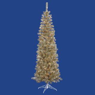 Vickerman 6.5 Artificial Pencil Christmas Tree in Champagne