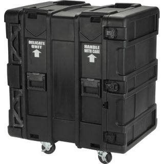 SKB 24 Deep 16U Roto Shock Rack in Black   3SKB R916U24