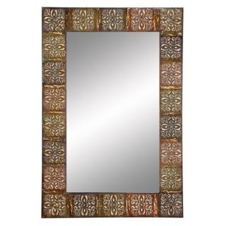 Aspire Embossed Metal Frame Wall Mirror