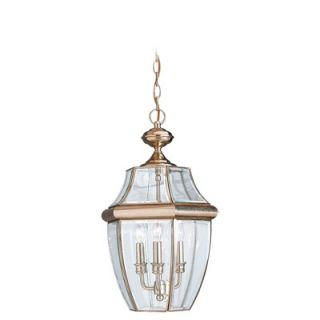 Sea Gull Lighting Classic Outdoor Polished Brass Pendant