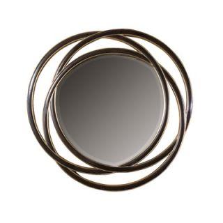 Uttermost Odalis Round Beveled Mirror in Matte Black