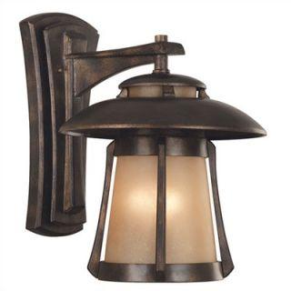 Kenroy Home Laguna Outdoor Wall Lantern in Golden Bronze