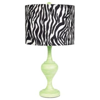 Jubilee Collection Curvature Large Table Lamp in Modern Green