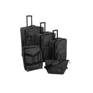 American Flyer Small Dots 5 Piece Luggage Set