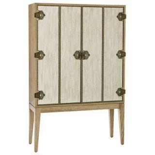ARTERIORS Home Chelsey Limed Oak Veneer Bar / Bifold Linen Doors