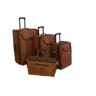 American Flyer Paisley Gold 4 Piece Luggage Set   86700 4 GOL