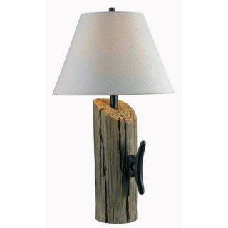 Kenroy Home Cole One Light Table Lamp in Wood Grain   32055WDG