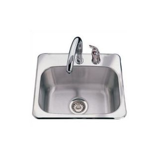 FrankeUSA Stainless Steel Two Hole Bar Sink