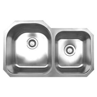 Whitehaus Collection Noahs Chefhaus Double Bowl Undermount Kitchen