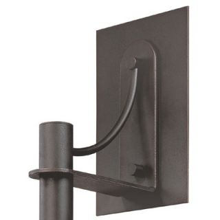 Sonneman Bridge Small Wall Sconce in Textured Rustic Bronze   4903