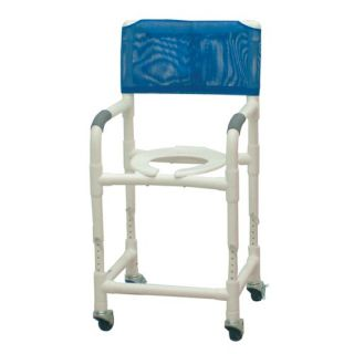 Reclining Shower Chair and Optional Sliding Footrest   196 BAR KIT