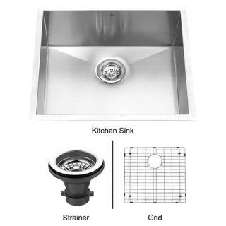Vigo 23 Stainless Steel Undermount Kitchen Sink Set   VG2320CK1
