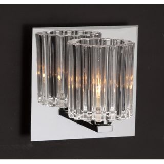 PLC Lighting Felicia Wall Sconce in Polished Chrome   1061 Clear PC