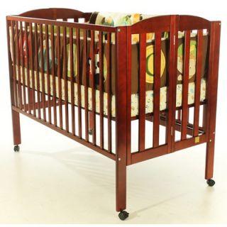 Dream On Me Folding Full Size Crib, Cherry