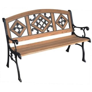 DC America Florence Wood and Cast Iron Park Bench   SL5790COBR MP
