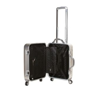 Rockland Carry On Spinner Upright with TSA Locks   F201 SILVER