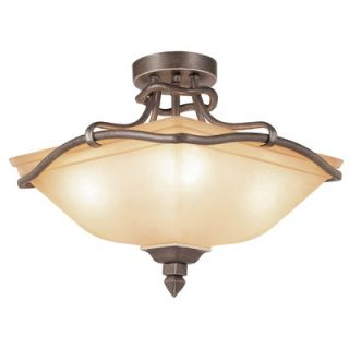 TransGlobe Lighting Rustic Tea Branch 4 Light Semi Flush Mount