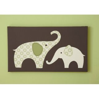 Carters Green Elephant Canvas Wall Art