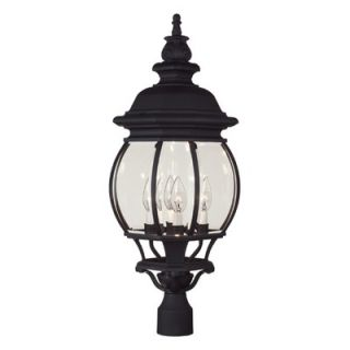 Savoy House 4 Light Post Lantern   07097 BLK
