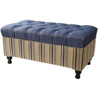Jennifer Taylor Hampton Fabric Bedroom Storage Ottoman