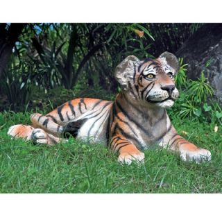 Design Toscano The Grand Scale Wildlife Animal Lying Down Tiger Cub