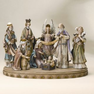 Roman, Inc. 17 Eight Piece Wood Like Nativity Set