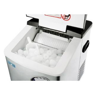 Great Northern Popcorn Stainless Steel Portable Ice Maker Machine