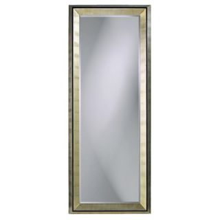 Howard Elliott Detroit Full Length Wall Mirror in Bright Silver Leaf